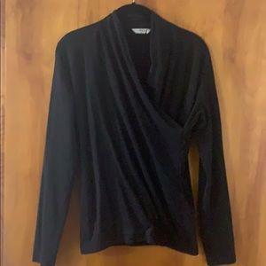 Liz Claiborne Black Wrap Shirt